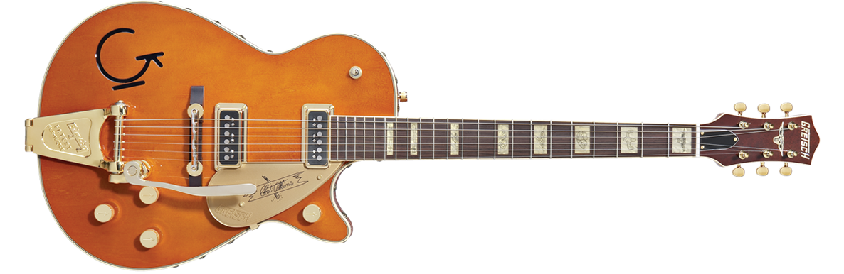 G6121-1955 Chet Atkins® Solid Body with Bigsby®, Leather Trim, Rosewood Fingerboard, Tangerine