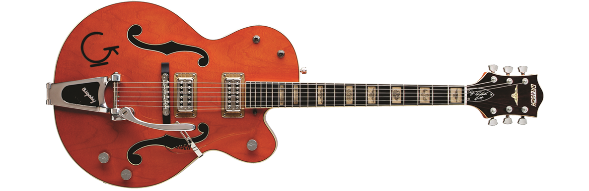 G6120RHH Reverend Horton Heat Signature Hollow Body with Bigsby®, Ebony Fingerboard, Orange Stain, Lacquer
