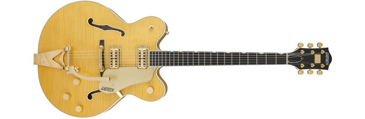 G6122TFM Players Edition Country Gentleman® with String-Thru Bigsby®, Filter'Tron™ Pickups, Flame Maple, Amber Stain