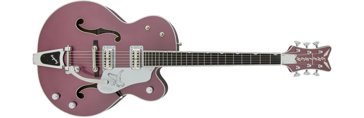 G6136T-LTD15 Limited Edition Falcon™, Ebony Fingerboard, Rose Metallic, with Case