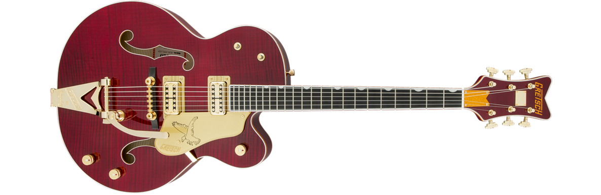 G6136TFM-DCHY Limited Edition Falcon™ with Bigsby®, Tiger Flame Maple, TV Jones®, Dark Cherry Stain