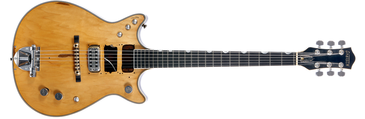 "G6131MY-CS Custom Shop Malcolm Young ""Salute"" Jet™, Ebony Fingerboard, Natural Relic"