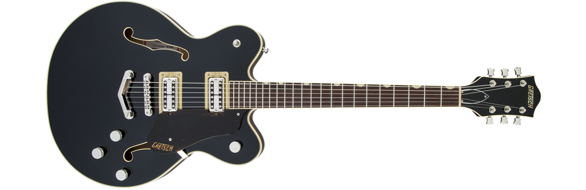 G6609 Players Edition Broadkaster® Center Block Double-Cut with V-Stoptail, USA Full'Tron™ Pickups, Black