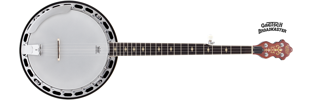"G9400 Broadkaster® ""Deluxe"" 5-String Resonator Banjo, Zinc Alloy Flathead Tone-Ring"
