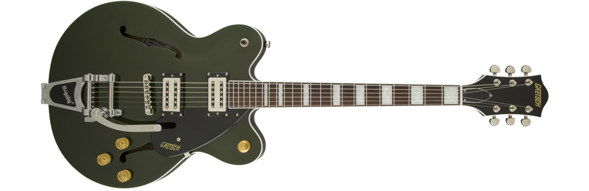 G2622T Streamliner™ Center Block with Bigsby®, Broad'Tron™ Pickups, Torino Green