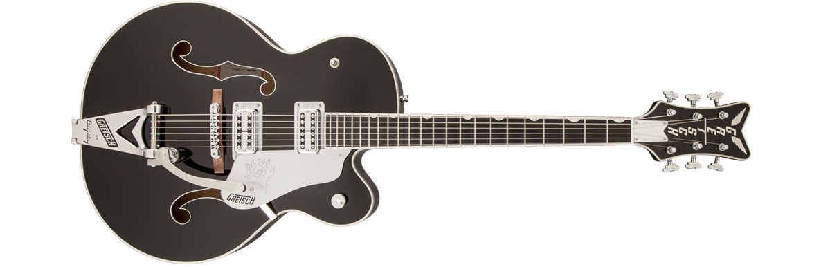 G6136SLBP Brian Setzer Phoenix with Bigsby®, TV Jones® Setzer Pickups, Black, Lacquer