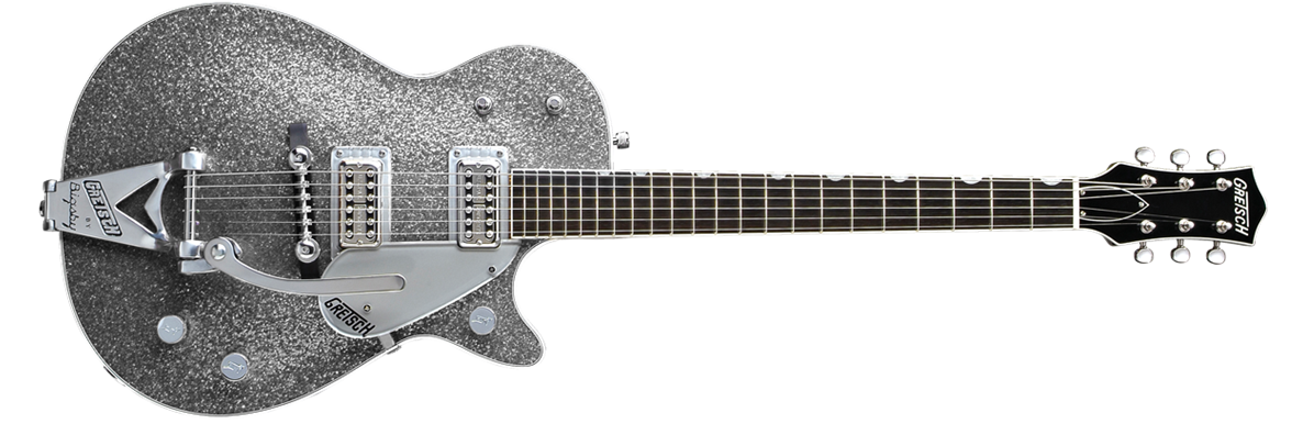 G6129T Silver Jet™ with Bigsby®, Ebony Fingerboard, Silver Sparkle