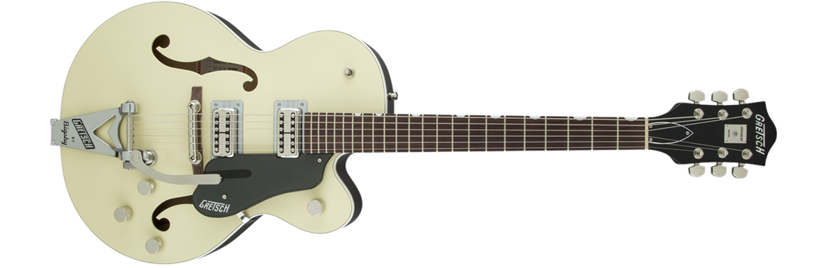 G6118T-LIV Players Edition Anniversary™ with String-Thru Bigsby®, Filter'Tron™ Pickups, 2-Tone Lotus Ivory and Charcoal Metallic