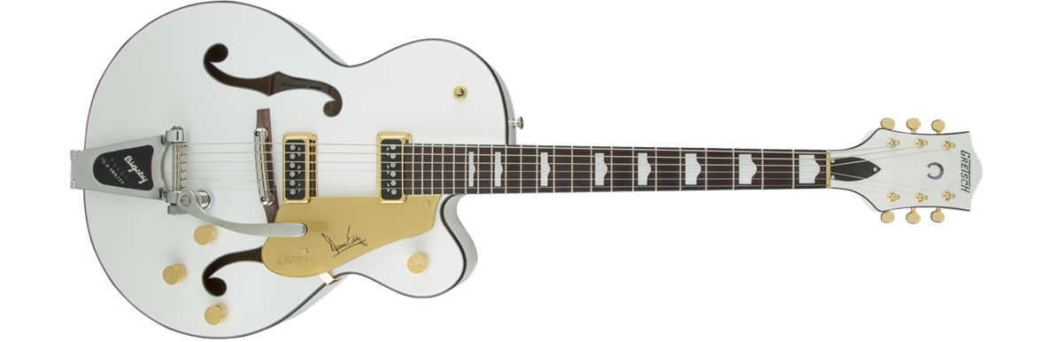 G6120 Duane Eddy Signature Hollow Body with Bigsby®, Rosewood Fingerboard, Pearl White