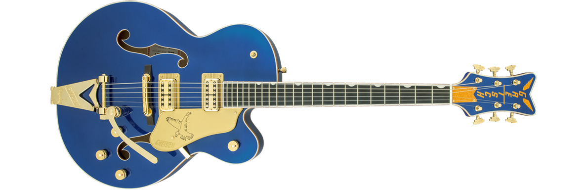 G6136T Limited Edition Falcon™ with String-Thru Bigsby®, Azure Metallic