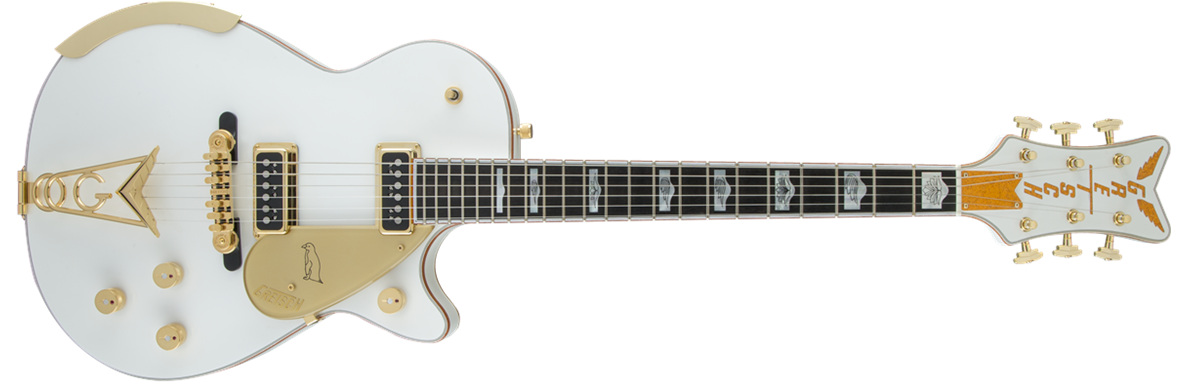 G6134 White Penguin™, Ebony Fingerboard, White