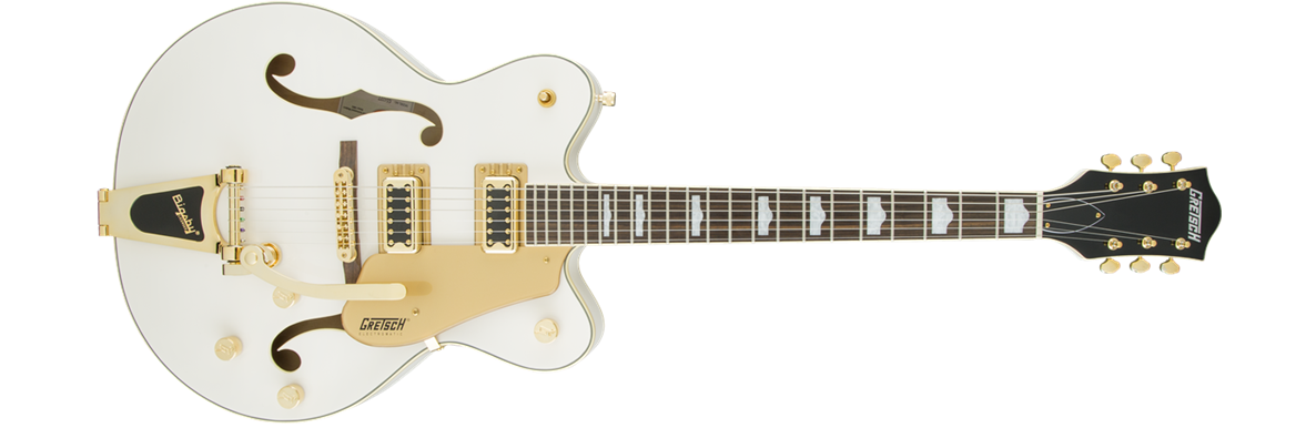 G5422TG Electromatic® Hollow Body Double-Cut with Bigsby® and Gold Hardware, Snowcrest White