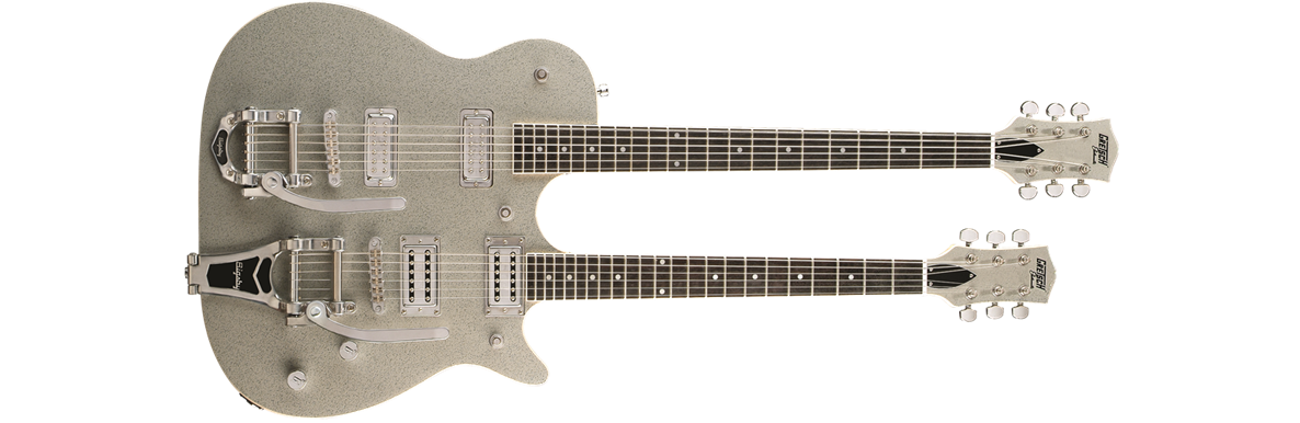 G5265 Electromatic® Jet Double Neck with Bigsby®, Rosewood Fingerboard, Silver Sparkle