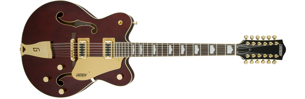 G5422G-12 Electromatic® Hollow Body Double-Cut 12-String with Gold Hardware, Walnut Stain