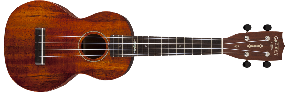 G9110-SK Concert Koa Ukulele with Gig Bag, Solid Koa, Open Pore, Semi-Gloss Finish
