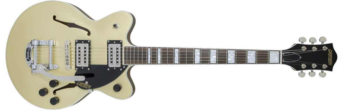 G2655T Streamliner™ Center Block Jr. with Bigsby®, Broad'Tron™ Pickups, Golddust