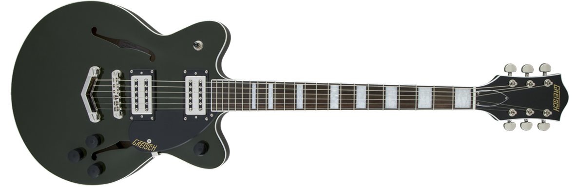 G2655 Streamliner™ Center Block Jr. with V-Stoptail, Broad'Tron Pickups, Torino Green