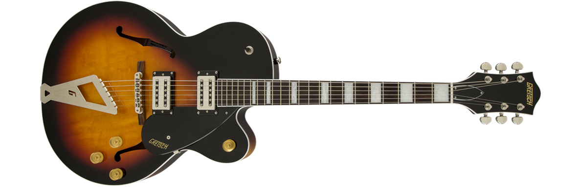 G2420 Streamliner™ Hollow Body with Chromatic II Tailpiece, Broad'Tron™ Pickups, Aged Brooklyn Burst