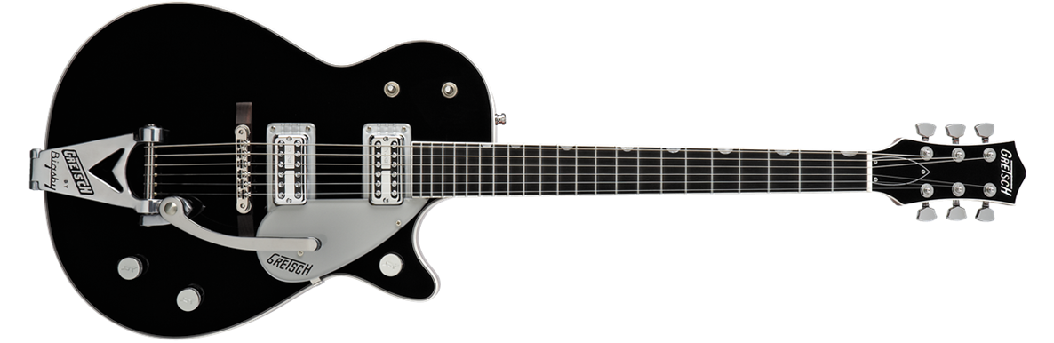 G6128T-TVP Power Jet with Bigsby®, TV Jones®, Ebony Fingerboard, Black