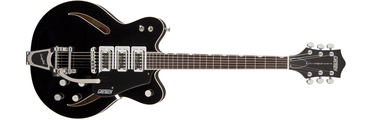 G5622T-CB Electromatic® Center Block with Bigsby®, Double Cutaway, Black