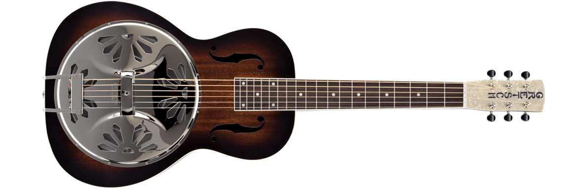 G9230 Bobtail™ Square-Neck A.E., Mahogany Body Spider Cone Resonator Guitar, Fishman® Nashville Resonator Pickup, 2-Color Sunburst