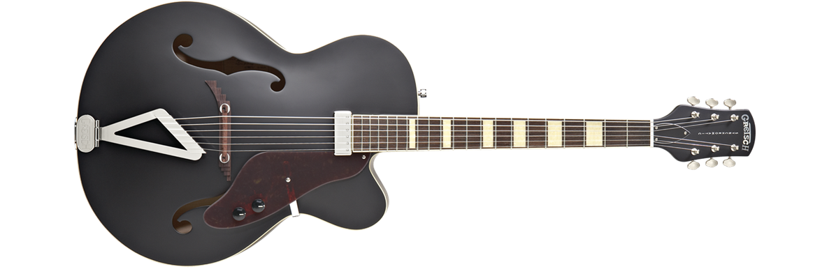 G100BKCE Synchromatic™ Archtop Cutaway Electric, Rosewood Fingerboard, Flat Black