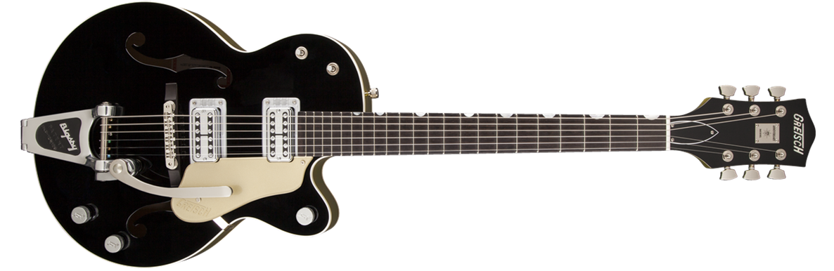 G6118T-LTV 130th Anniversary™ Hollow Body with Bigsby®, TV Jones® Pickups, 2-Tone Black / Gold Lacquer