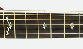 UNIQUE VINTAGE-STYLE FINGERBOARD INLAYS