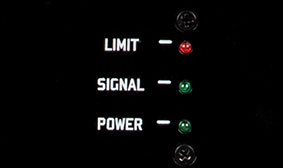 Power, signal and limit LED indicators