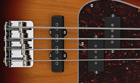 """P/J"" Pickup Configuration with Franklin Bridge Pickup"