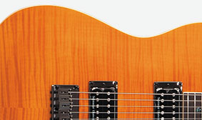 NATO BODY WITH CARVED FLAME MAPLE TOP