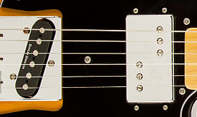 TWO HIGH OUTPUT HUMBUCKING PICKUPS