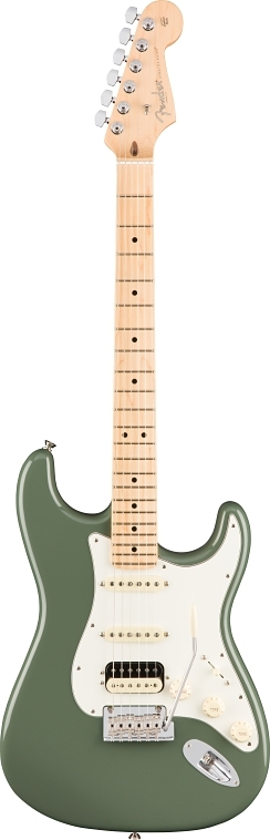 American Professional Stratocaster® HSS Shawbucker - Antique Olive