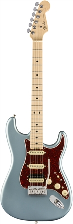 American Elite Stratocaster® HSS Shawbucker - Satin Ice Blue Metallic