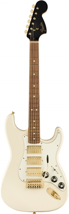 Limited Edition Mahogany Blacktop Stratocaster® HHH, Pau Ferro Fingerboard, Olympic White with Gold Hardware -