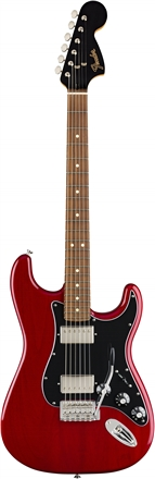 Limited Edition Mahogany Blacktop Stratocaster® - Crimson Red Transparent