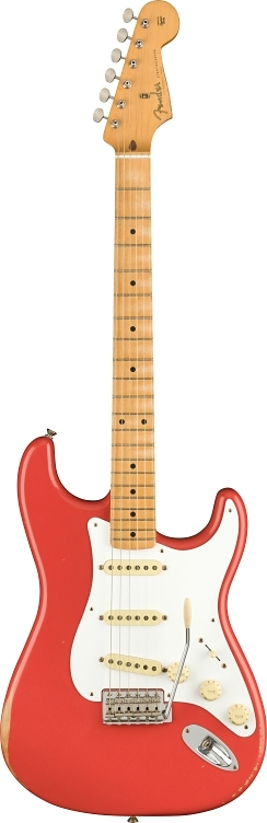 Vintera Road Worn® '50s Stratocaster® - Fiesta Red