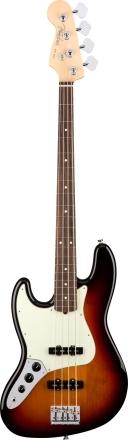 American Professional Jazz Bass® Left-Hand - 3-Color Sunburst