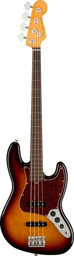 American Professional II Jazz Bass® Fretless - 3-Color Sunburst