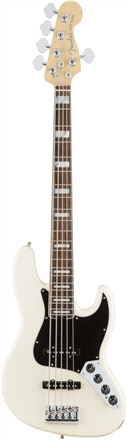 American Elite Jazz Bass® V - Olympic White