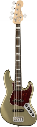 American Elite Jazz Bass® V - Satin Jade Pearl Metallic