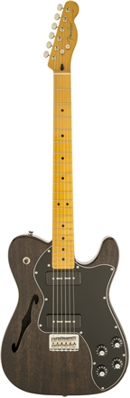 Modern Player Telecaster® Thinline Deluxe - Black Transparent