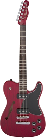 Jim Adkins JA-90 Telecaster® Thinline - Crimson Red Transparent