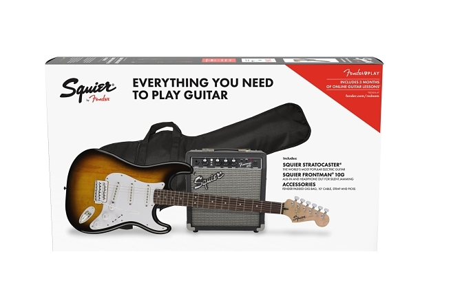 Squier® Stratocaster® Pack - Brown Sunburst