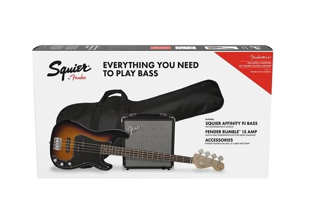 Affinity Series™ Precision Bass® PJ Pack - Brown Sunburst