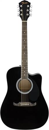 FA-125CE Dreadnought, Walnut Fingerboard - Black