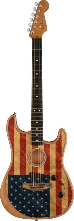 American Acoustasonic® Stratocaster® Flag Print -