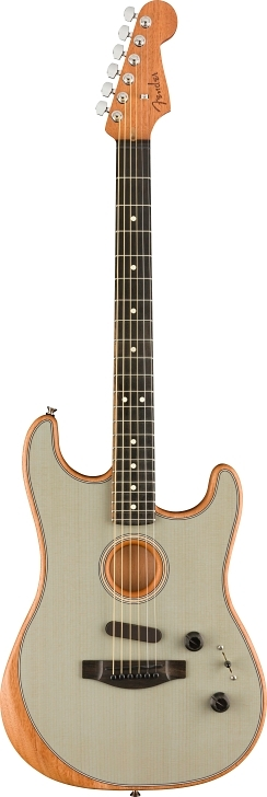 American Acoustasonic® Stratocaster® - Transparent Sonic Blue