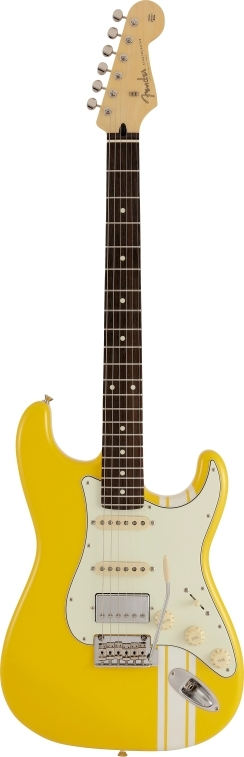 Made in Japan Hybrid Stratocaster® HSS Limited Run Graffiti Yellow -