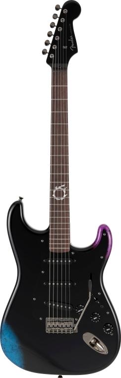 FINAL FANTASY XIV Stratocaster®, Rosewood Fingerboard, Black -